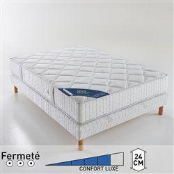 Matelas à ressorts ensachés confort luxe ferme 7 zones, haut. 24 cm