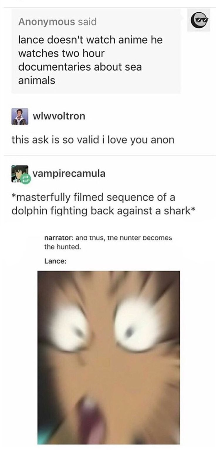 I could see this happening, and then Keith walking in, looking at Lance, and either just walking out or joining him with popcorn