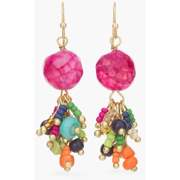 Chico's Hagen Cluster Earrings (£16) ❤ liked on Polyvore featuring jewelry, earrings, multi, colorful earrings, multi colored earrings, multicolor earrings, dangling jewelry and chicos jewelry