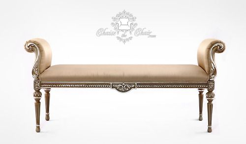 Our BÉLIER in #satin with #silver leaf.  #French #furniture