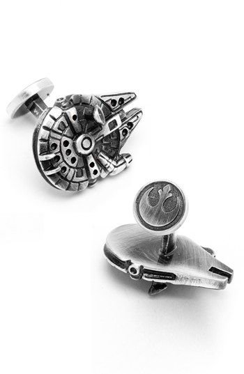 For the boyfriend?? Cufflinks, Inc. 'Star Wars™ - Millennium Falcon' Cuff Links available at #Nordstrom