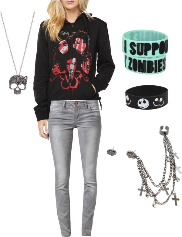 """""""Hot Topic Outfit"""" by xxmycrazystylexx on Polyvore"""