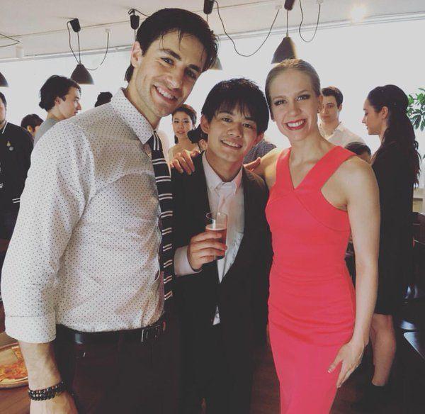 Andrew Poje(Canada),Takahiko Kozuka(JAPAN) and Kaitlyn Weaver(Canada)