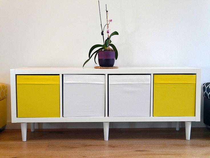 Legheads Ikea Kallax White Yellow Orchid Ikea Furniture