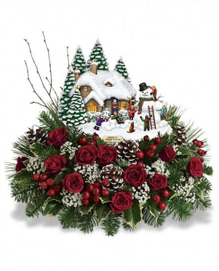 Best christmas flowers plants gift baskets images on