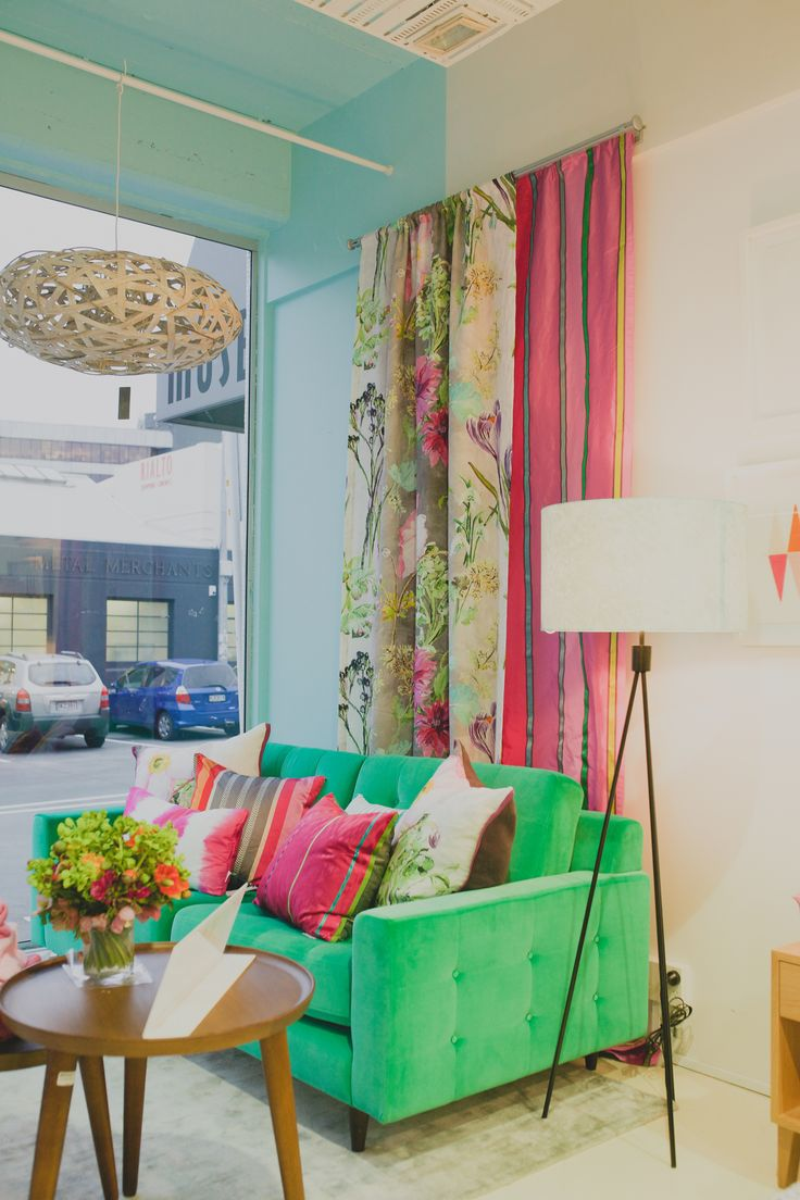 Be bold! Choosing an unexpected colour for your furniture creates impact!