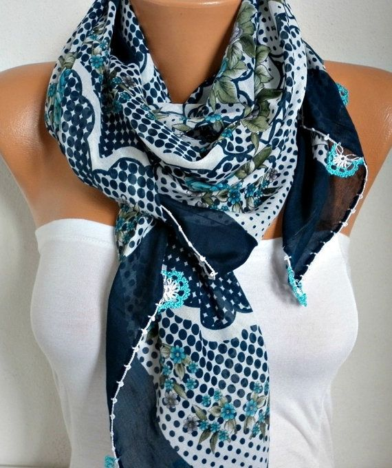 Spring Floral Scarf Oya Yemeni Cotton Cowl Easter Shawl Mom Bridesmaid Gift  Bridal Accessories Gift Ideas For Her Women Fashion Accessories c6c661096c2
