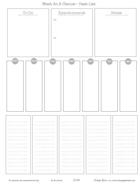 1000 images about daily weekly organizer insert for Day at a glance calendar template