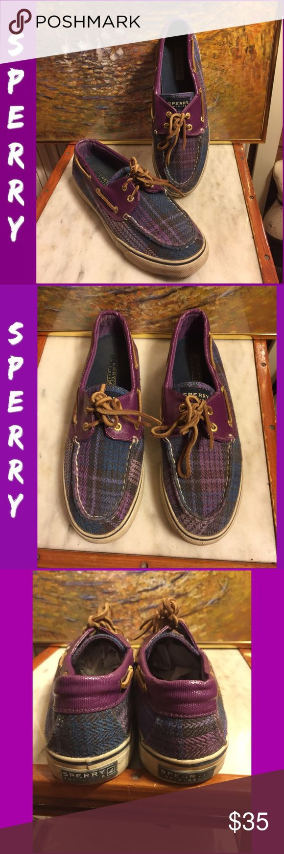 SALE🌷SZ 8.5- SPERRY TOP-SIDER PLUM/PLAID FLATS CLASSIC SPERRY TOP-SIDET BOAT SHOES. UNIQUE PLUM LEATHER/PLAID FLATS. SZ 8.5 M ( Medium/regular width). OVERALL GREAT PRE-OWNED CONDITION. RETAIL $99. PLEASE DO NOT HESITATE TO ASK ANY QUESTIONS! #sperrytopsiders #sperryflats #plumlearther #plaid Sperry Top-Sider Shoes Flats & Loafers