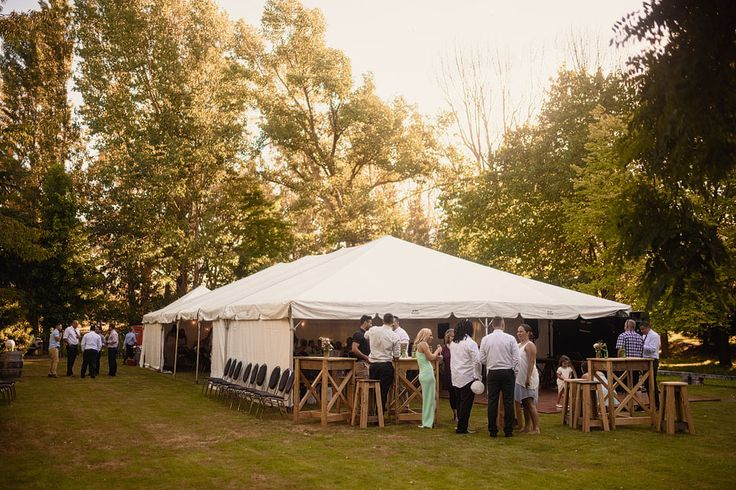 Marquee setip for Lucy and Reuben's wedding | Flaxmere Gardens, North Canterbury, New Zealand