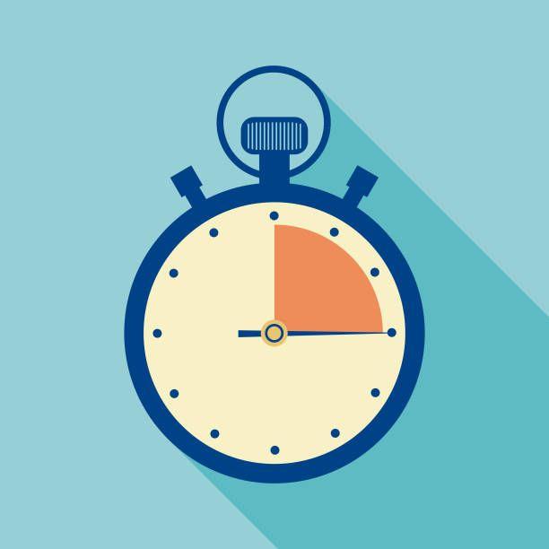 Flat Design Alarm Clock Vector