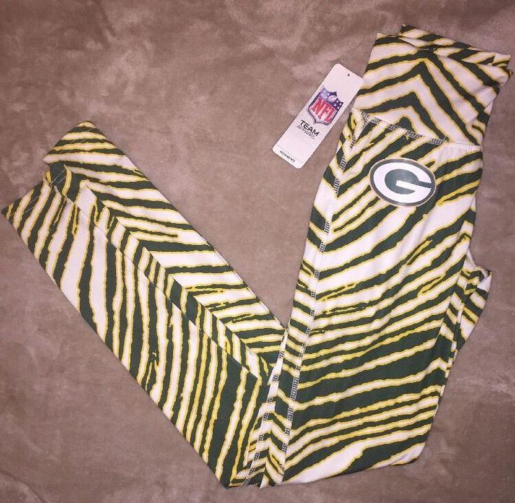 NEW NFL Team Apparel Green Bay Packers XS Womens Leggings Zebra Stripe Yoga Pant    eBay
