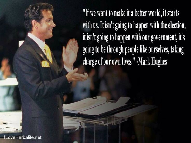 Mark Hughes, the incredible man who founded Herbalife the worlds number 1 nutrition company.