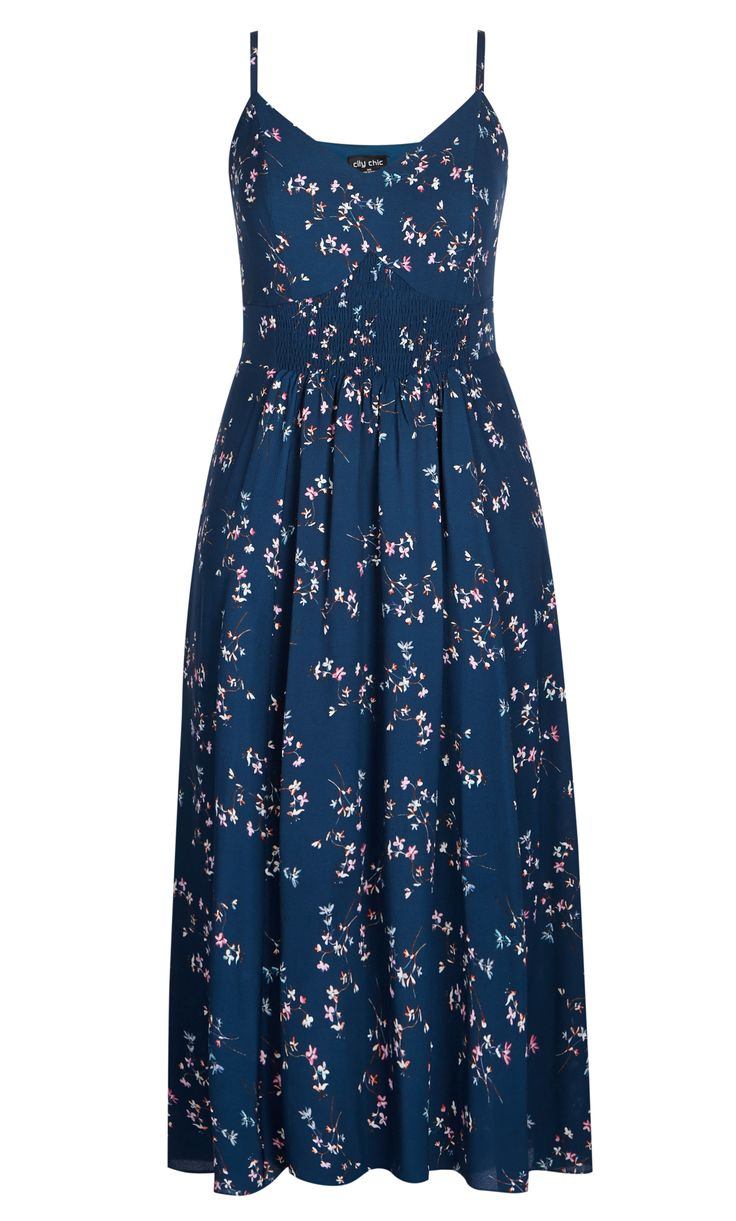 City Chic - FINE FLORAL MAXI DRESS - Women's Plus Size Fashion