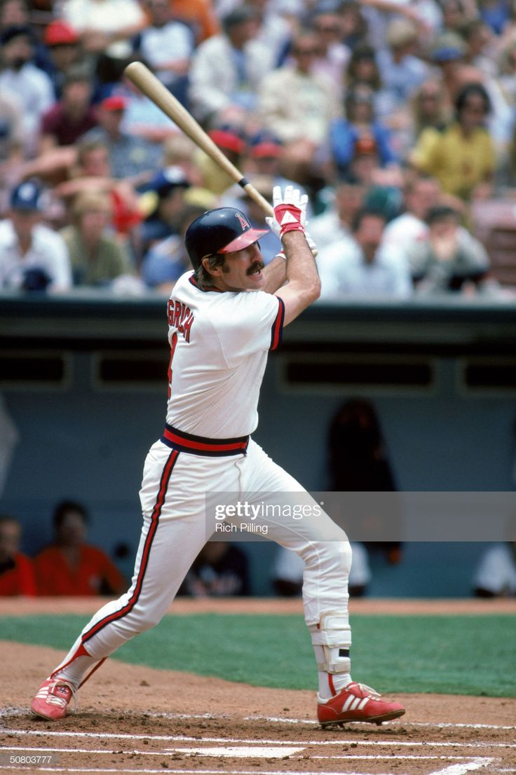Bobby Grich of the California Angels swings at a pitch