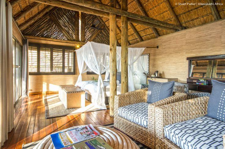 Guest room at Savute Safari Lodge in the Chobe National Park