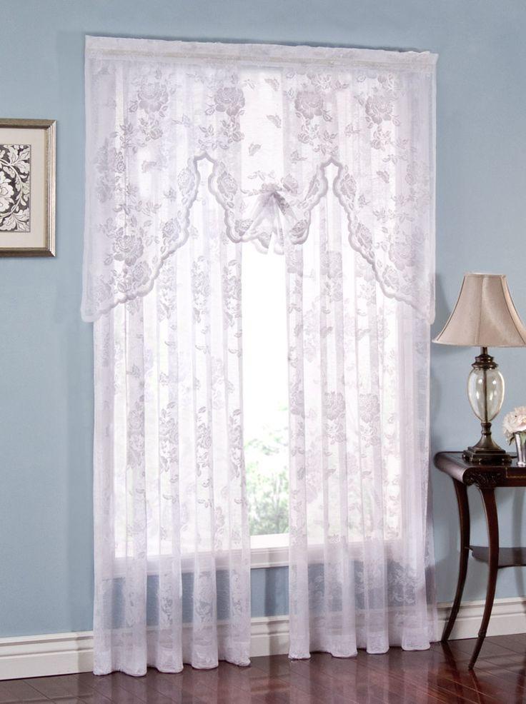 45 Best Lace Curtains Images On Pinterest Lace Curtain