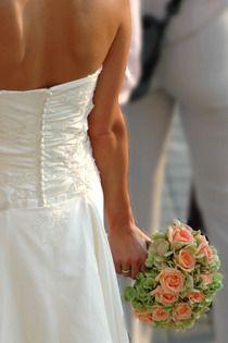 rózsa, hortenzia menyasszonyi csokor - esküvő virág