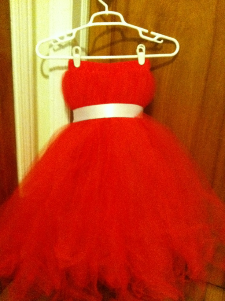 this was a red tutu dress for a sassy little girl