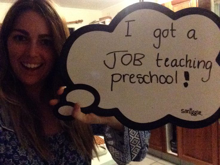 The day I was offered a position teaching preschool in an early childhood centre !