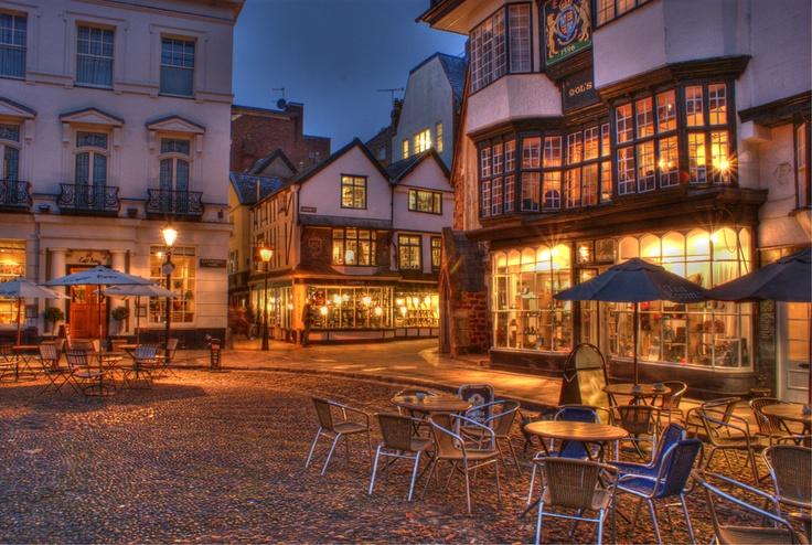 Town center, Exeter, Devon, England. Beautiful England