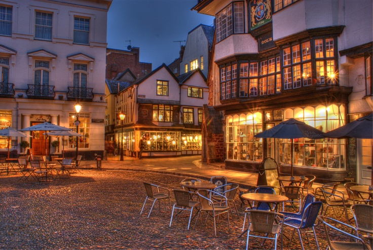 Town center, Exeter, Devon, England. Beautiful England