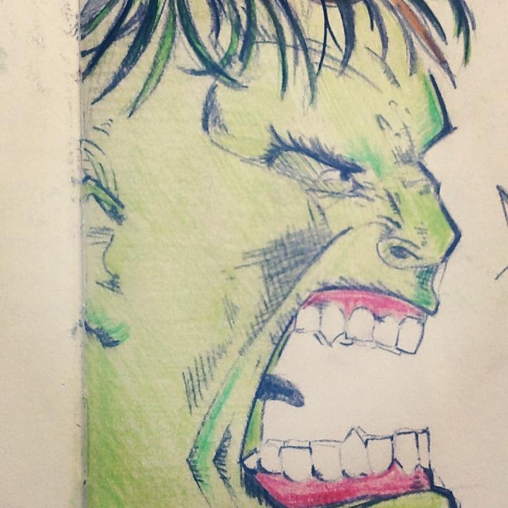 Incredible Hulk drawing