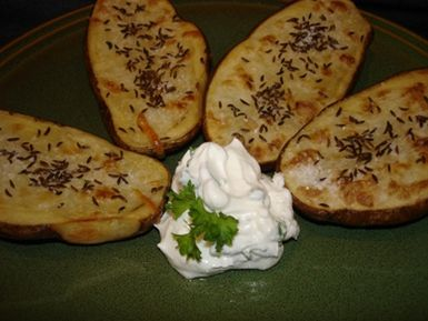 Up the Ante with Quark Cheese in German Baked Potatoes: Baked Potatoes with Caraway and Quark