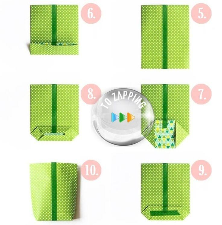 2b58b2d0a Cómo Hacer Una Bolsa De Papel | Manualidades | DIY, Origami y Paper ...
