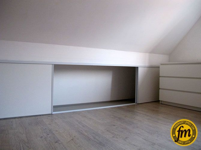 21 best placard sous pente images on pinterest bricolage envy and mansard roof. Black Bedroom Furniture Sets. Home Design Ideas