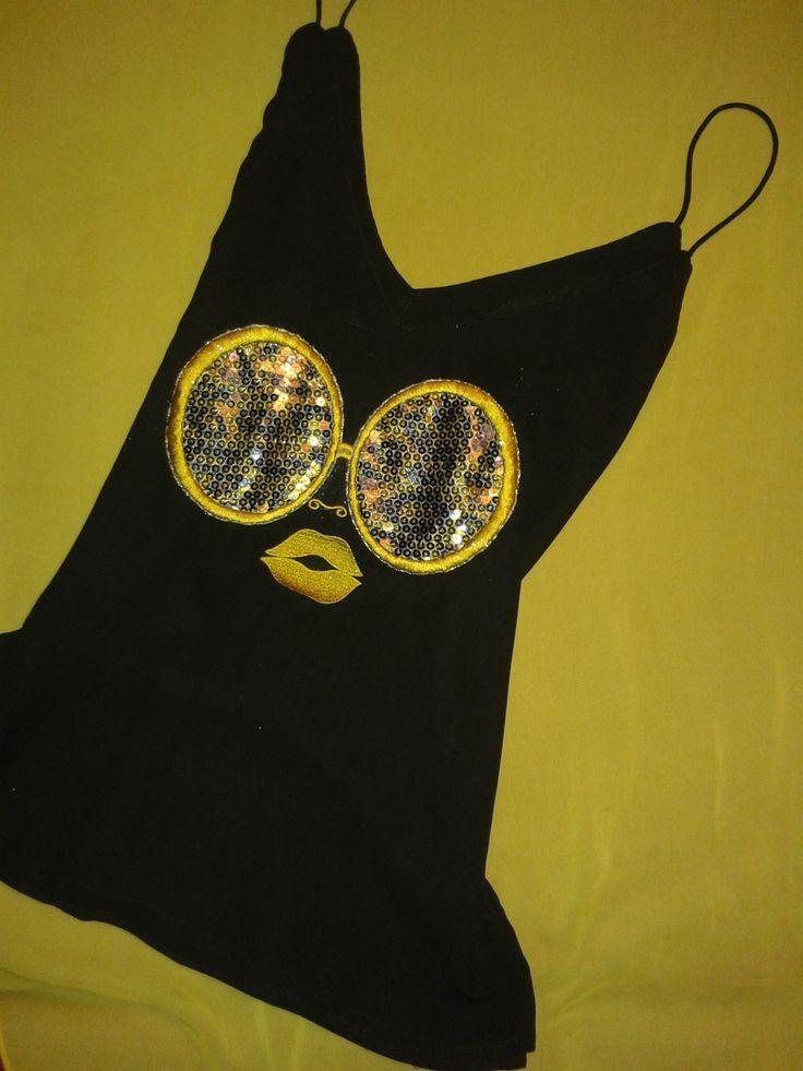 Camisa de seda con bordado de leopardo con lentejuelas