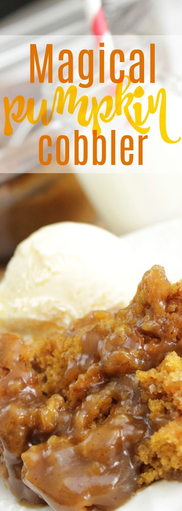 Looking for awesome pumpkin desserts? Easy cake with pumpkin ice cream topping is the way to go! This is a mix of pumpkin bread and pumpkin pie spice. #desserts #pumpkin #recipe #food