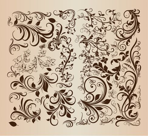 Free vector Vector Retro Floral Elements #5120