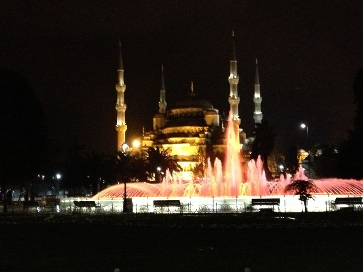 #istanbul #mosque and #fountain #pink #colors