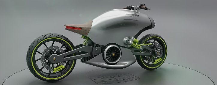The Porsche 618 Electric Motorcycle Concept | Newfoxy