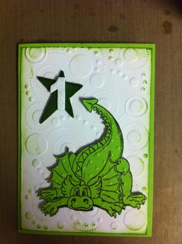 Dinosaur Card created with all Kaszazz products