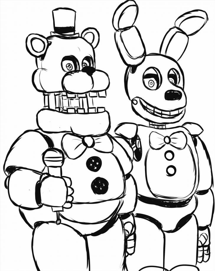Five Nights Freddy Coloring Pages