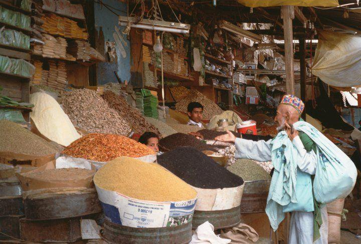 Yemen 1990, spezie e granaglie al suk di Sa'na