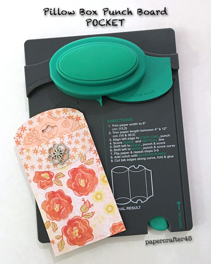 use your wrmk pillow box punch board to create a cute little pocket also makes