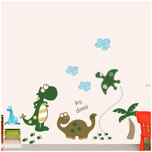 Hemdekor - Väggdekor Tre dinosaurier