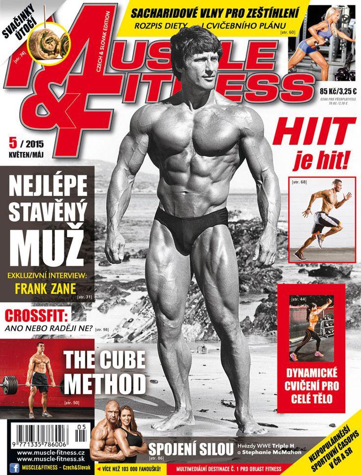 Frank Zane - nejlépe stavěný muž planety na titulce M&F 5/2015. Frank Zane - the most aesthetic bodybuilder of the Golden Era on the cover of M&F Czech&Slovak 5/2015.