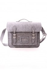 When I saw this prettiness my jaw dropped & I had to physically close it!  Felt Old School Satchel in Grey