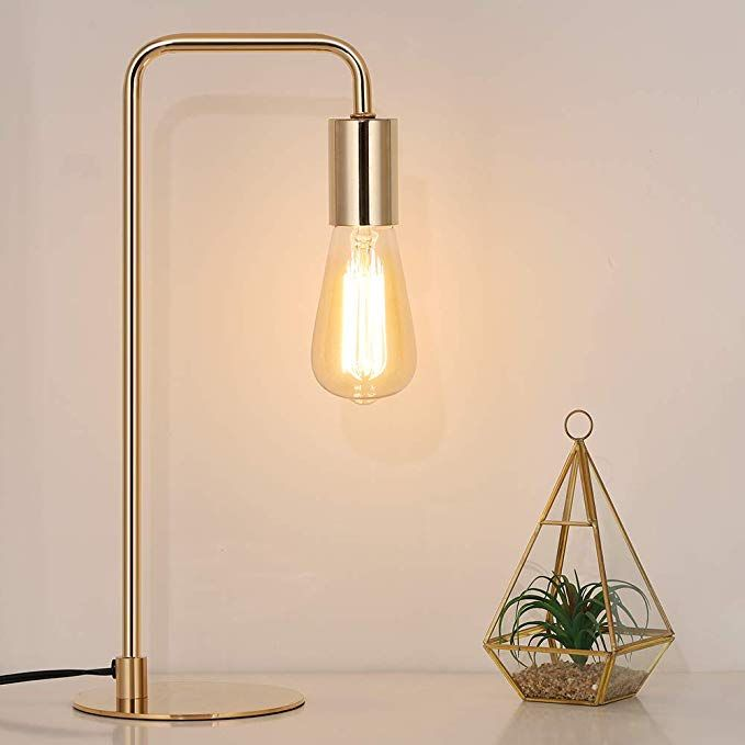 Edison Table Lamp Industrial Desk Lamps Small Gold Metal Lamp Suit For Bedside Dressers Coffee Table Study Desk In Bedroom In 2020 Lamp Table Lamp Edison Table Lamp