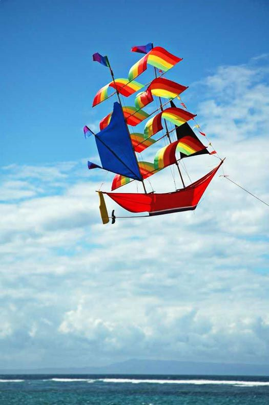 Awesome boat kites made in Bali have on of these never flies well though