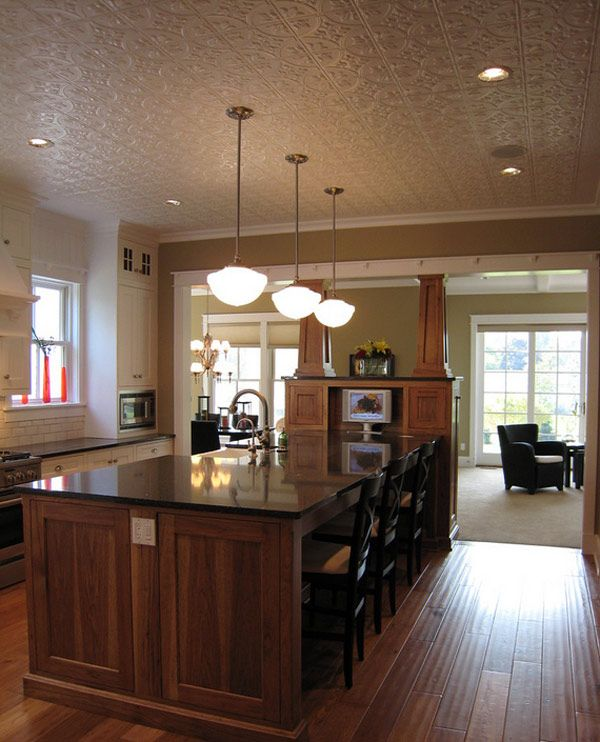 20 Dining Room And Kitchen Interior Combo Ideas 18307: 17 Best Ideas About Tin Ceiling Kitchen On Pinterest