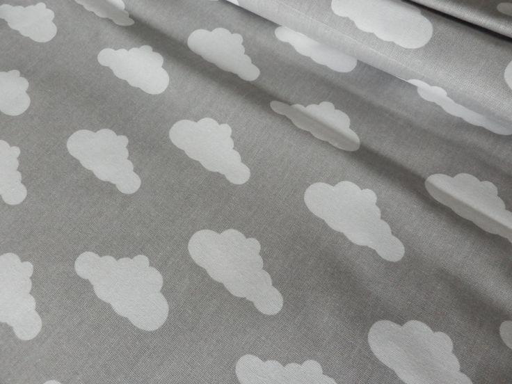 Bílé+obláčky+na+šedé+Látka+bílé+obláčky+na+šedé.+Složení+100%+bavlna.+Šíře+160+cm.+Gramáž+135g/m2.+Původ+EU.+Srážlivost+je+3-5%.+Cena+za+0,5+m.