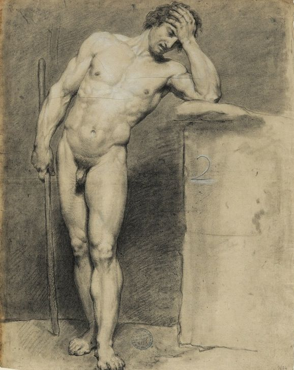 standing young male nude
