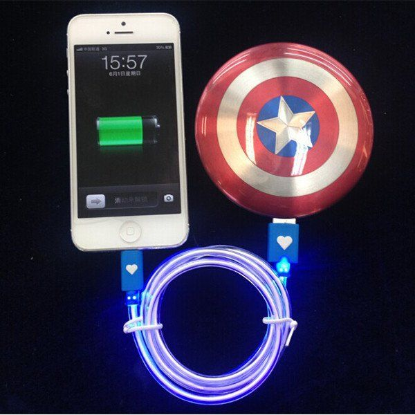 Captain America is ready to power your mobile devices. Sounds cool? Let's go on for Captain America Shield Power Bank. Never let your smartphone, tablet or other devices die again while you're on-the-