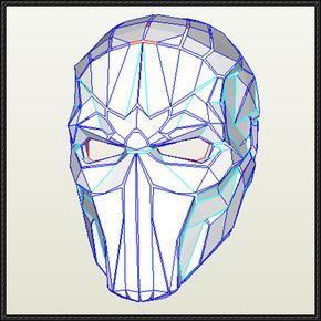 DC Comics - Life Size Deathstroke Mask Ver.3 Free Papercraft Download - http://www.papercraftsquare.com/dc-comics-life-size-deathstroke-mask-ver-3-free-papercraft-download.html