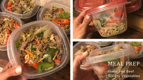 If you're looking for some healthy, high protein and low carb meal prep recipes this organic grass fed beef stir fry is easy and delicious!